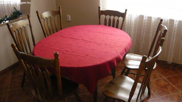Classikus FA használt étkező garnitúra eladó 6 székkel - Eladó ...