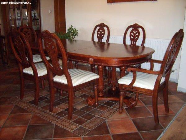 Étkezőgarnitúra étkező asztal, 6 székkel - Eladó Használt - Écs ...