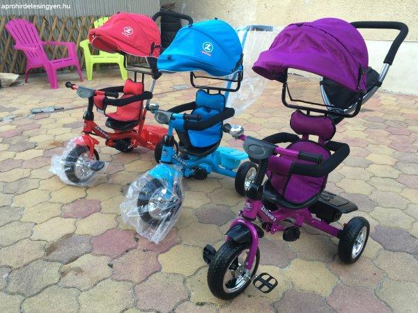 Új Luxus króm felnis szülőkaros gyermek tricikli babakocsi h - Eladó ... 8331f4dab4