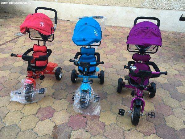 %DAj+Luxus+kr%F3m+felnis+sz%FCl%F5karos+gyermek+tricikli+babakocsi+h
