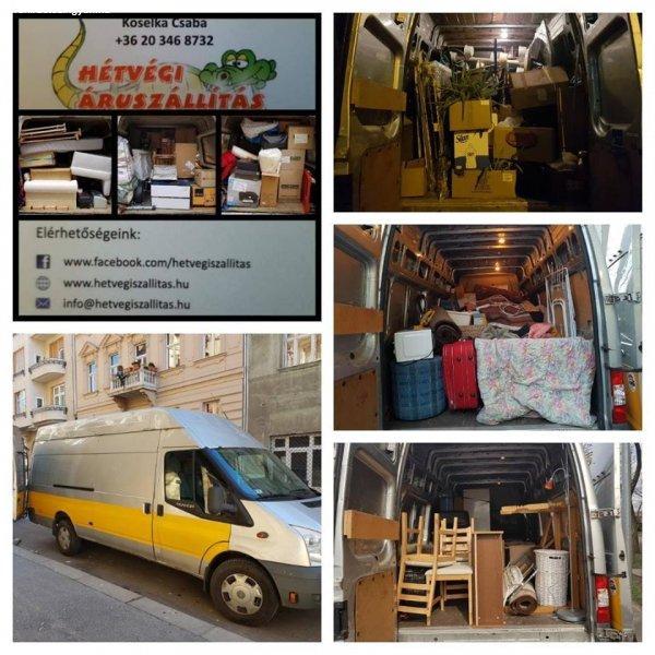 Költöztetés, bútorszállítás fix áron hétköznap és hétvégén