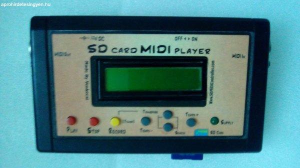 SD Kártyás MIDI Player szintetizátorhoz (hangmodulhoz)