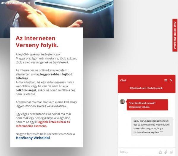 1a39620113 ... WEBOLDAL KÉSZÍTÉS - WEBOLDAL FELÚJÍTÁS + CHAT ÜGYFÉLSZOLGÁLA