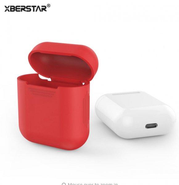 Appel+AirPods+feh%E9r%2C+fekete%2C+piros%2C+%E1tl%E1tsz%F3+szilikon+tokv%E9d