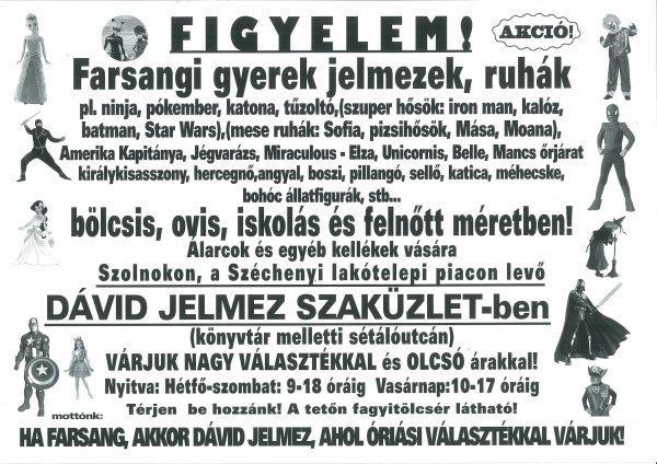 07b2817feee9 Farasangi jelmezbolt Szolnokon - Eladó - Szolnok - Apróhirdetés Ingyen