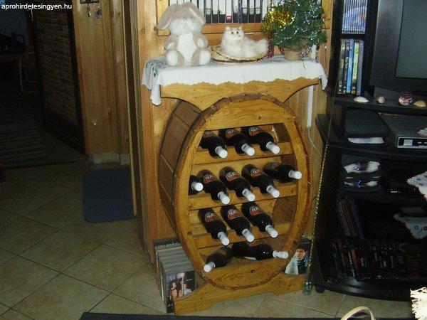 Hordó alakú bortartó