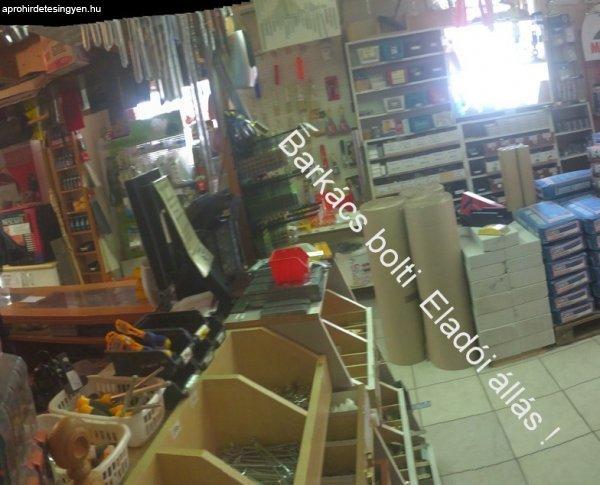 Eladói állás Barkács boltba