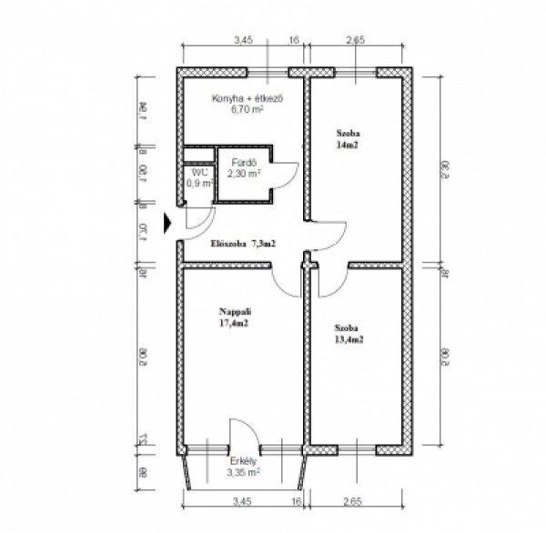 Központi helyen- szuper áron 3 szobás kertvárosi lakás eladó