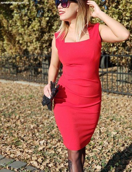 Klasszikus piros ceruza ruha