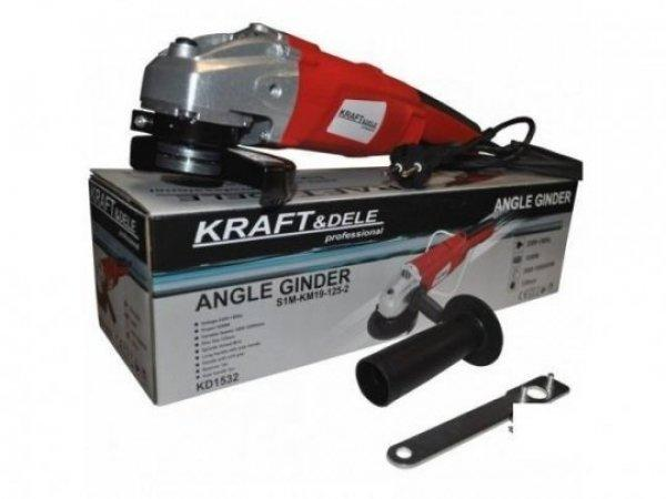 Új Kraft&dele KD 1532 Fordulatszám szabályzós sarokcsiszoló,