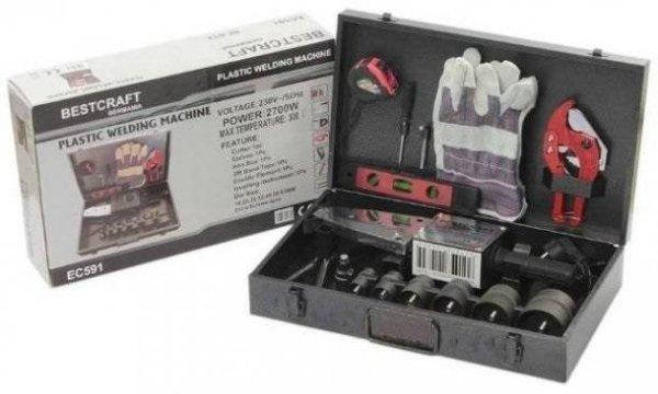 Új Bestcraft EC591 Műanyagcső hegesztő készlet 16-63mm 2700W
