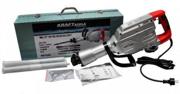 Új Kraft&dele KD1549 bontókalapács 1700w /45Joule eladó