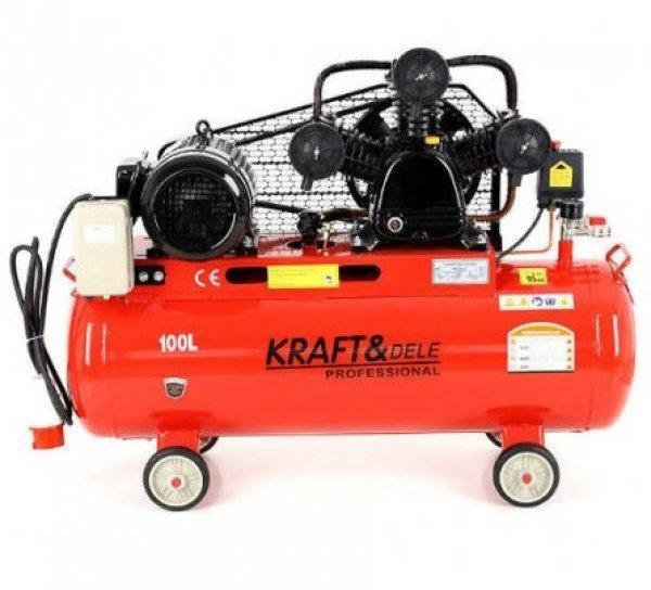 Új Kraft&dele kompresszor 100 literes V3 650lit/min eladó
