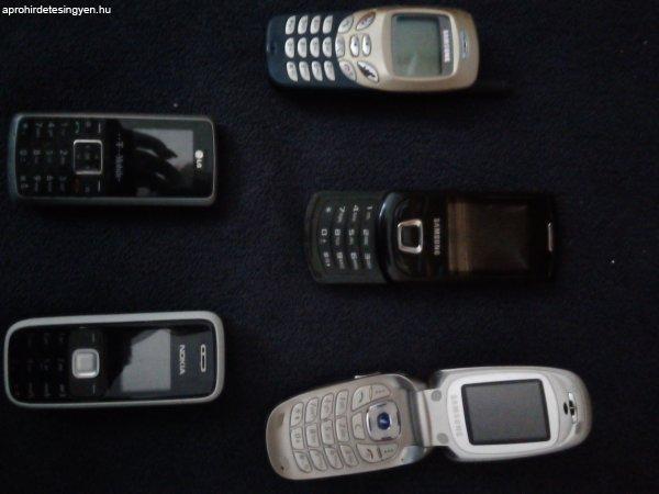 5 db mobiltelefon eladó! Samsung, Nokia és LG