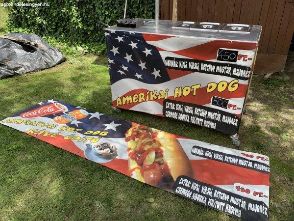 Hot Dog kocsi eladó , gázos rendszerű OLVASD EL