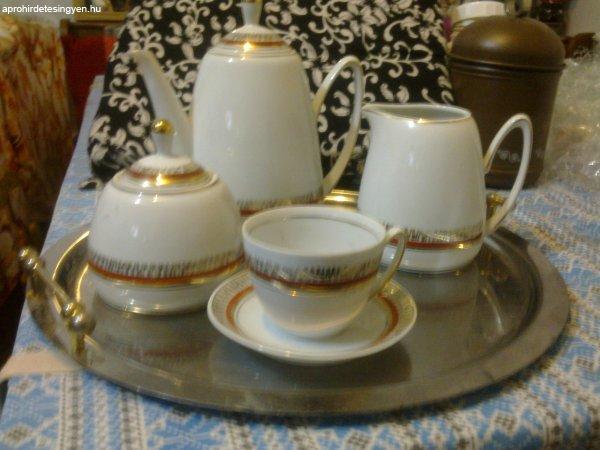 Kávéskészlet,gyönyörű,6 szem.porcelán,ép,törésmentes