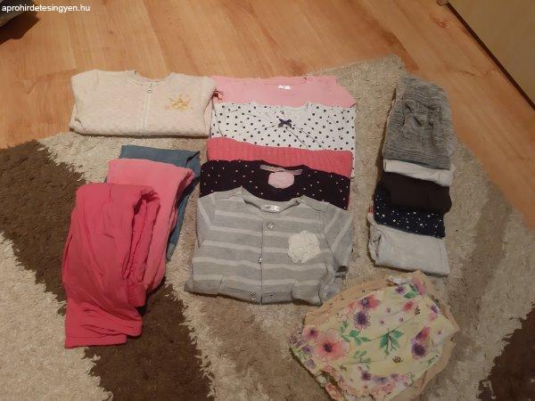 86-98-as méretű kislányruhákból álló ruhacsomag eladó