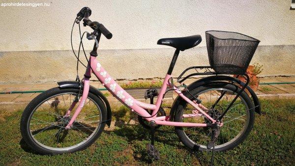 Eladó rózsaszín 20-as Neuzer gyerek kerékpár!
