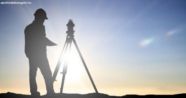 Földmérő geodéta állás Ajka (Iroda-terep, betanulás vagy sza