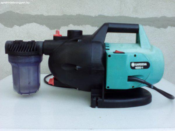 Gardena 4000/4 házi-szivattyú + víz elöszürő