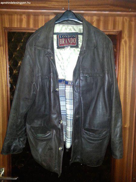 d5ca7b7c1d Brando férfi velúr bőr kabát XL-es eladó - Eladó Használt ...