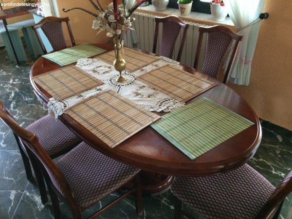étkező asztal+6 szék - Eladó Használt - Miskolc - Apróhirdetés Ingyen