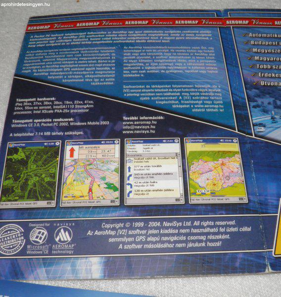 NaviSys+Aeromap+navig%E1ci%F3s+szoftver+PDA-ra