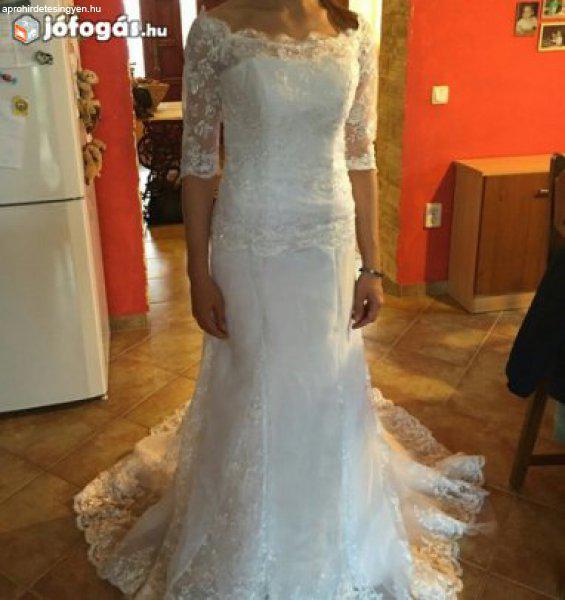 72a25ae17f Rosa Clara mintára varratott menyasszonyi ruha - Eladó Használt ...