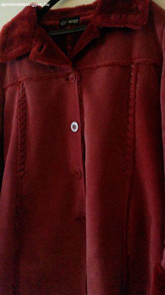 ... bordó téli irha kabát - Újszerű ... 8dd79e907a