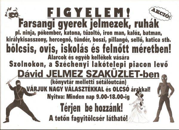 9663b20b90df Farsangi gyerek jelmezek - Eladó Új - Szolnok - Apróhirdetés Ingyen