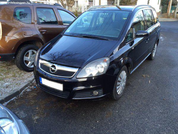 7 Személyes Autók: Eladó Fekete Opel Zafira 1,9DTI 7 Személyes