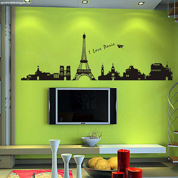 Párizs sziluett - falmatrica