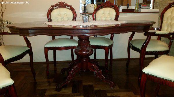 Barokk stílusú intarziás 6 személyes étkező - Eladó Használt ...