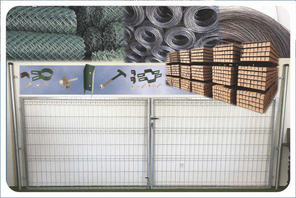 árak vadháló drótfonat betonoszlop fa kerítés oszlop építés
