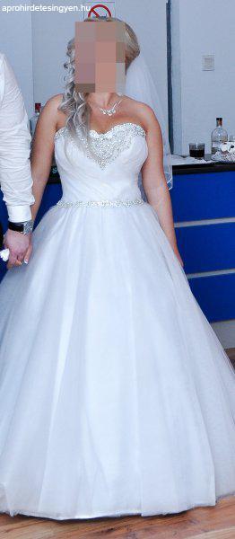 3d7e0911c2 Eladó menyasszonyi ruha / esküvői ruha / menyecske ruha - Eladó Új ...