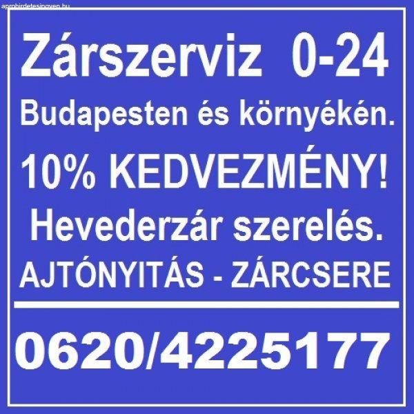 Zárcsere azonnal NON-STOP!