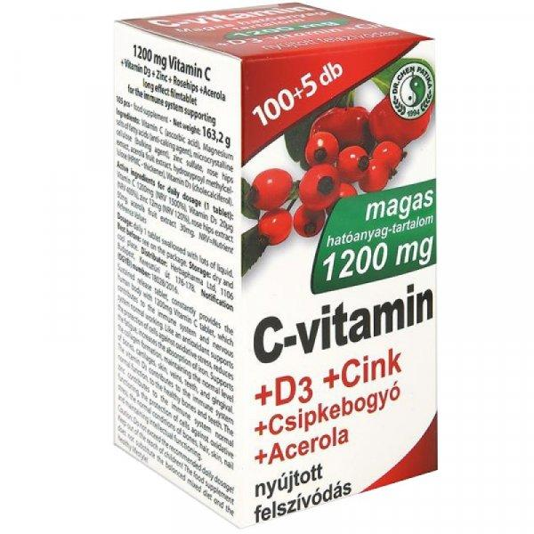 Dr.+Chen+C-vitamin+1200mg%2BD3%2Bcink%2Bacerola+tabletta+105x