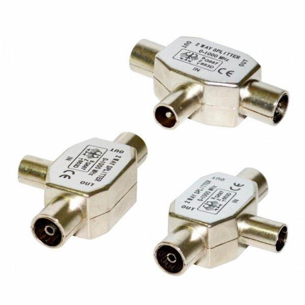 Vakoss+Antenna+csatlakoz%F3+RF+M-%26gt%3B+2x+RF+F%2C+TC-A117S%2C+feh%E9r