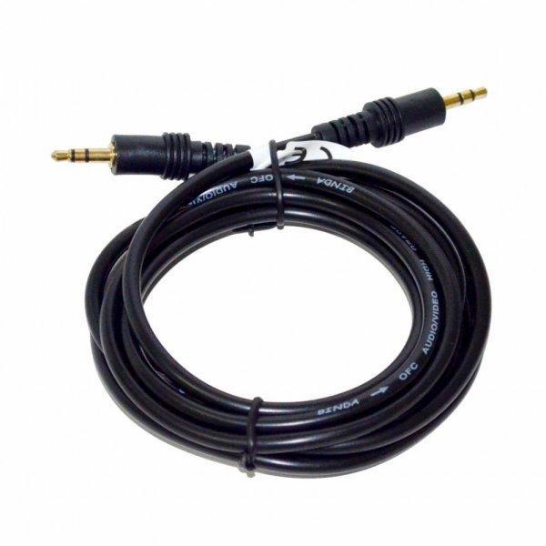 Vakoss+Audio+cable+minijack+3%2C5mm+M+-%26gt%3B+M+2m%2C+fekete%2C+bubo
