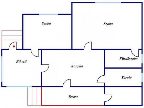 Elad%F3+73+nm-es+%DAjszer%FB+Csal%E1di+h%E1z+Mez%F5cs%E1t+Belv%E1ros+k%F6zeli+