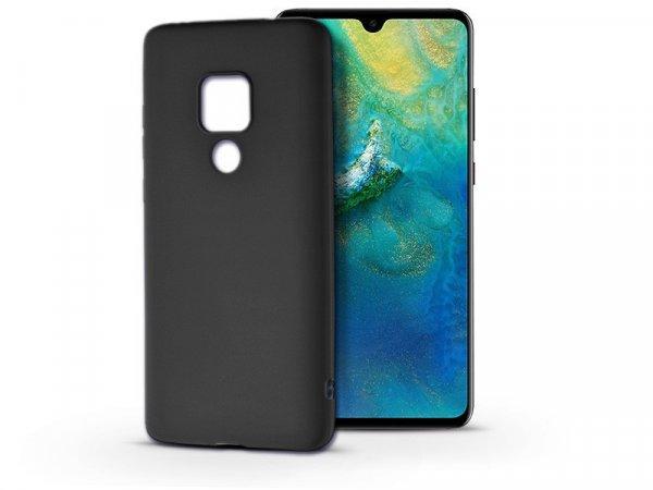 Huawei+Mate+20+szilikon+h%E1tlap+-+Soft+-+fekete