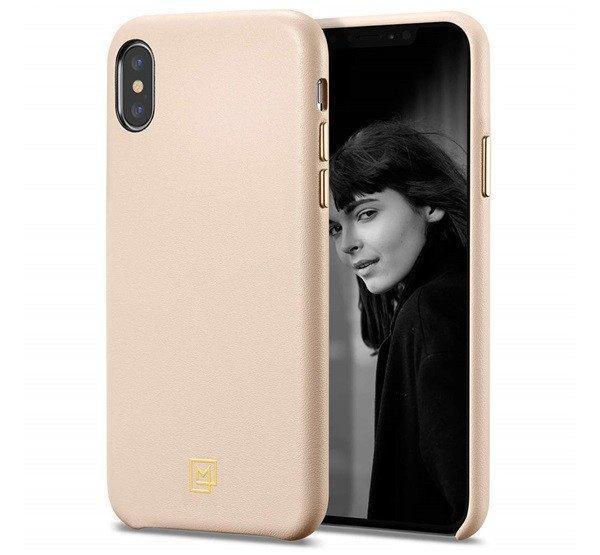 Spigen+SGP+La+Manon+Apple+iPhone+Xs%2FX+Pale+Pink+h%E1tlap+tok