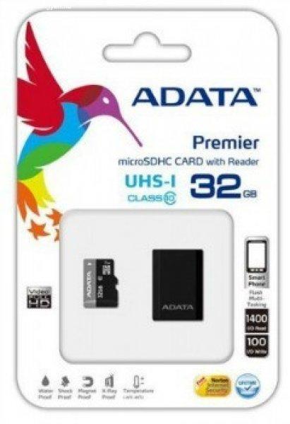 ADATA+Memory+card+Micro+SDHC+32GB+UHS-I+%2B+Micro+Reader