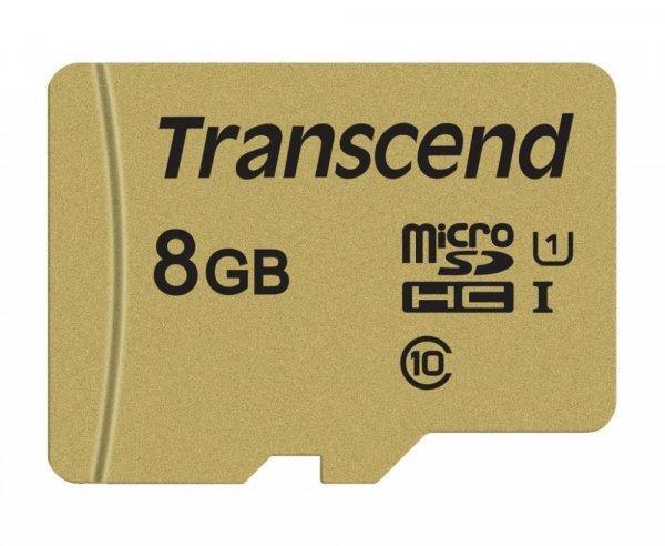 Mem%F3riak%E1rtya+Transcend+microSDHC+USD500S+8GB+CL10+UHS-I+U1+