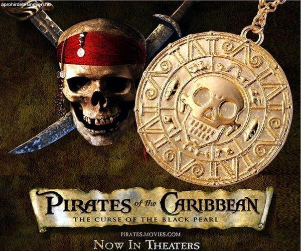 Karib Tenger Kalózai Jack Sparrow Azték Érme Nyaklánc