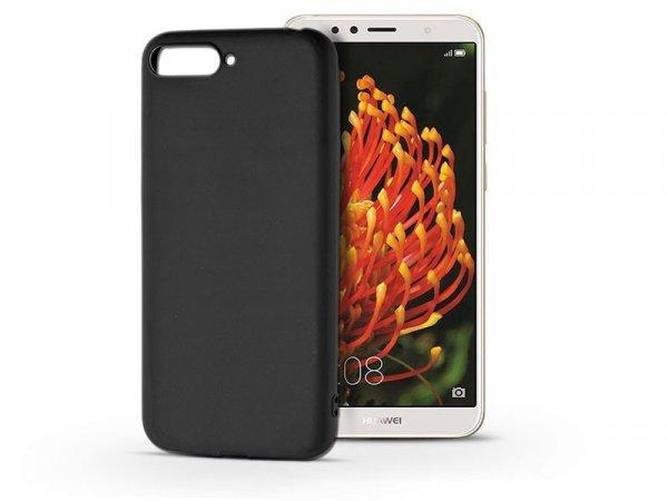 Huawei+Y6+%282018%29+szilikon+h%E1tlap+be%E9p%EDtett+f%E9mlappal+-+Soft+