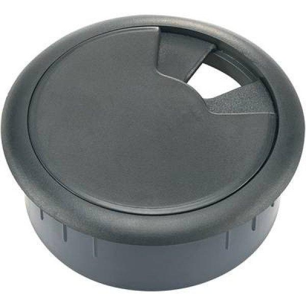 Kábelátvezető gyűrű bútorhoz Ř 61/50 x 28 mm, ABS, fekete, T