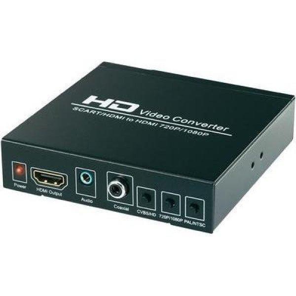 HDMI jelátalakító konverter [ Scart, HDMI bemenet - HDMI, di