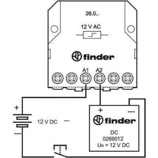 12 V/DC 1 db Finder 026.9.012