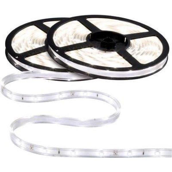 RGB LED szalag készlet, 12 V, 750 cm, semleges fehér, Paulma